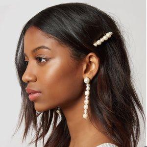 - New lele  sadoughi pearl long earrings